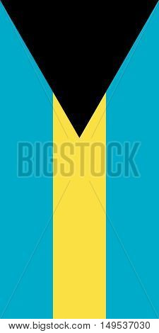 Flag Of The Bahamas Vertical