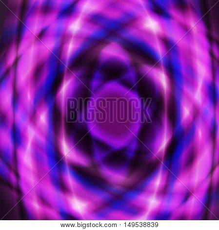 Purple colorful geometric oval design made using radial gradient and overlay opacity mode.