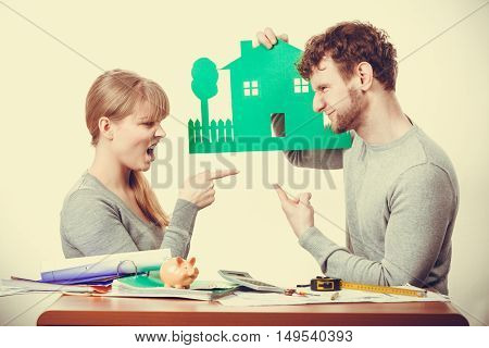 Young Couple Arguing About Future.