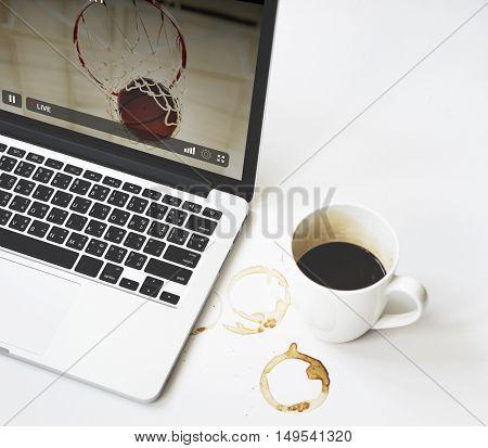 Live Stream Video Multimedia Concept