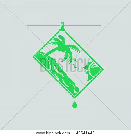Icon Of Photograph Drying On Rope