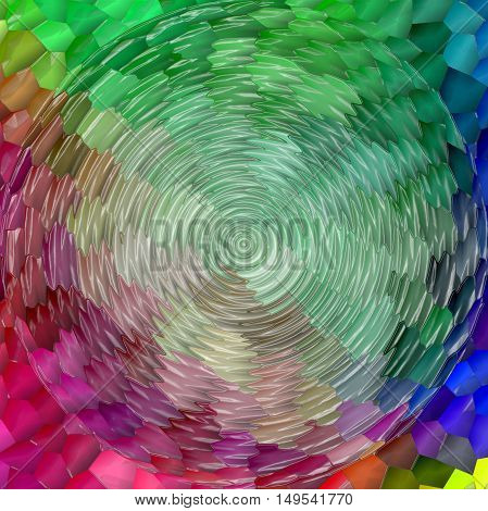Abstract coloring background of the pastels gradient with visual mosaic,spherize,zigzag and plastic wrap effects.Good for your project design