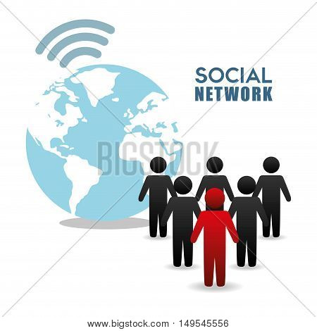 Social network customer people world connected gathering