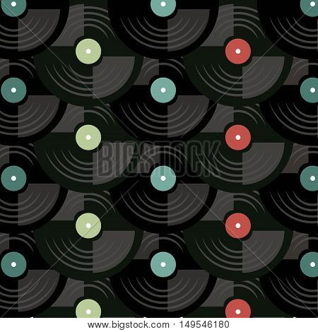 long play disk pop art style vector illustration design