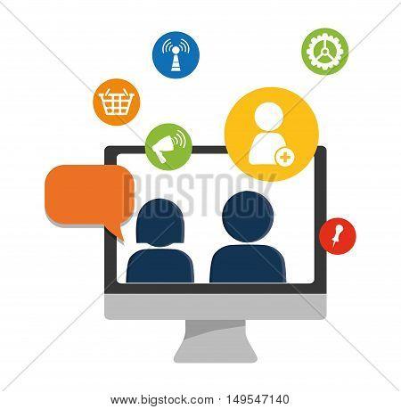 Social network couple world message cloud connection