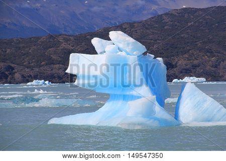 Curious Iceberg formation. El Calafate Patagonia, Argentina