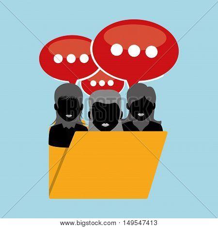 Social network message closed person core cloud