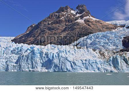Glacier at El Calafate Patagonia Argentina. HDR (high Dynamic Range) picture.