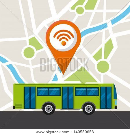 bus service public icon vector illustration design