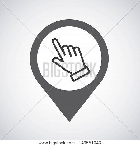 pointer pin location with hand vector illustration design