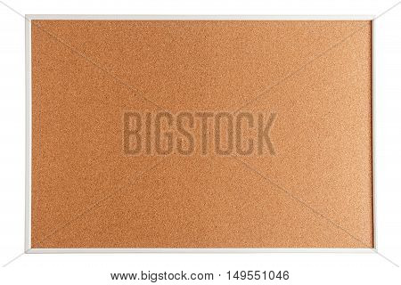 Cork bullatin board isolated on white background
