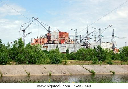 Chernobyl atomic power station, abandoned 5-6 reactor