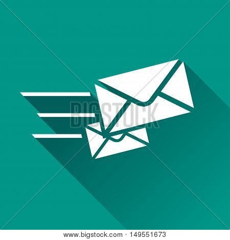 Illustration of speed mail icon with shadow