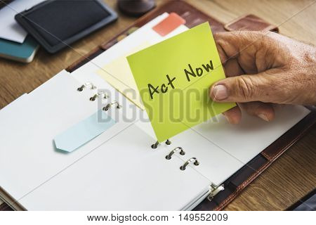Act Now New Job Concept