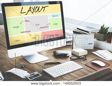 Layout Website Content Web Design Concept
