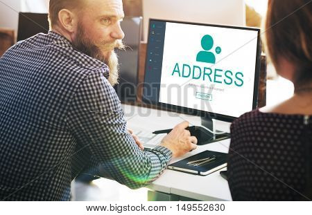 User Account Profile Social Network Concept