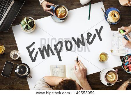 Empower Business Work Mission Concept