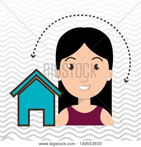 woman home page web vector illustration eps 10