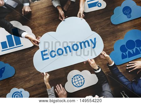 Cloud Words Economy Business Finance Marketing Concept