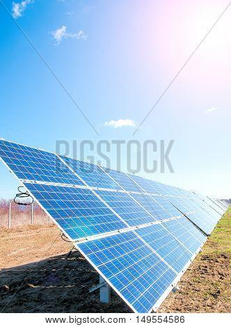 image of a big solar plant, A close up