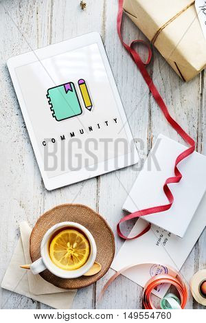 Notebook Pencil Write Communication Graphic Concept