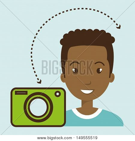 man camera photography images vector illustration eps 10