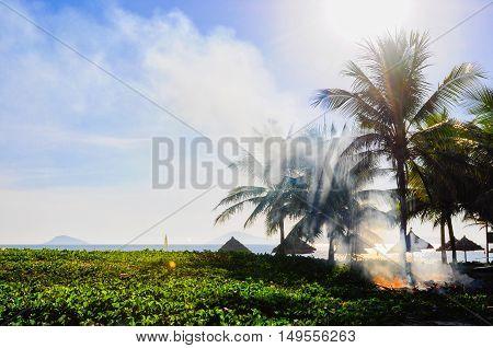 Sunny morning at Cua Dai beach - Hoi An