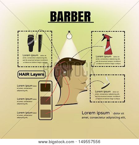 Barber Shop Logo. Barber Shop icon. Barber Shop illustration.Barber Shop poster.