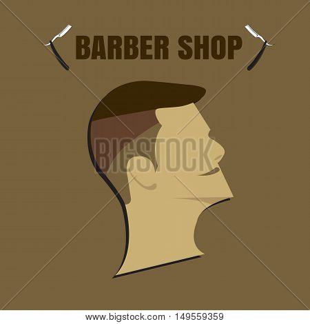 Barber Shop Logo. Barber Shop icon. Barber Shop illustration