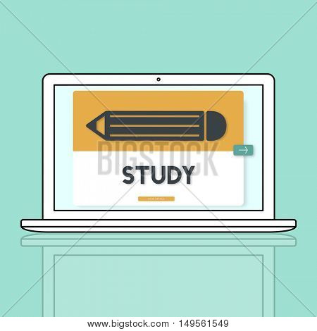 Pencil Education Study Academics Learning Graphic Concept