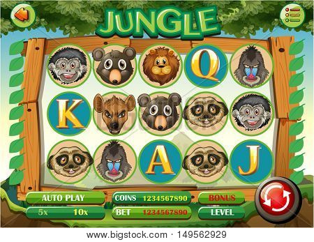 Animal themed slot machine game