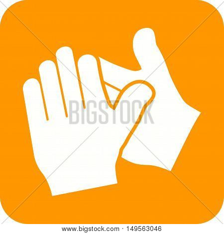 Clapping, applause, hands icon vector image. Can also be used for hand actions. Suitable for use on web apps, mobile apps and print media