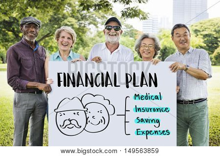Retirement Financial Plan Risk Assessment Senior Concept