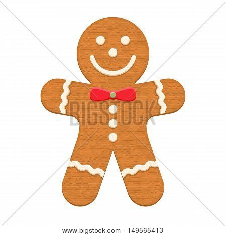 Gingerbread man, traditional Christmas cookie, vector eps10 illustration
