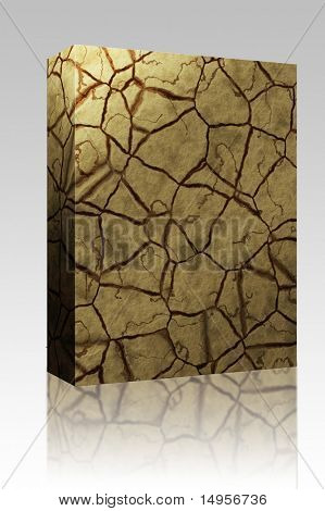 Software package box Cracked parched earth ground surface texture illustration
