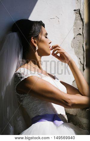 Bride Dreams With Eyes Closed
