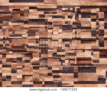 Wooden background squares abstract pattern Texture for kitchen plate.