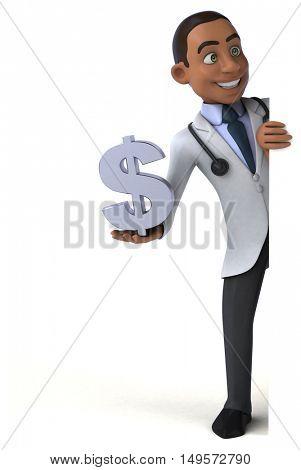 Fun doctor - 3D Illustration