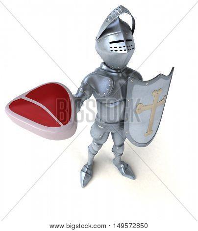 Fun knight - 3D Illustration