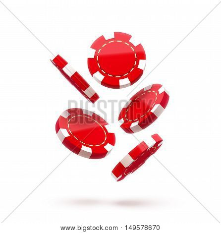 casino red chips, casino chips isolated on white, casino chip icon, casino chips in air, casino chips fall down, casino chips realistic objects, casino chips with shadows