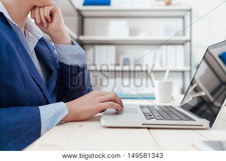 Executive Working At Desk