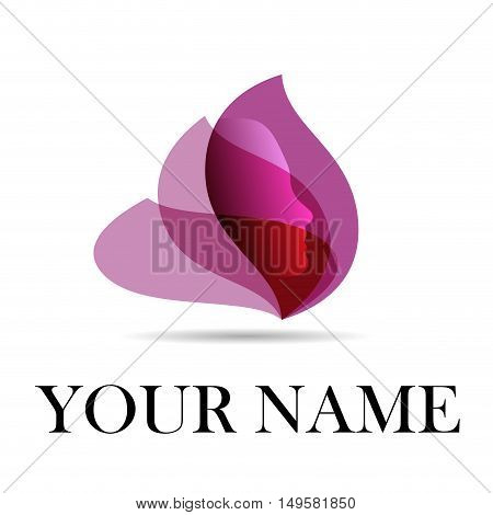 Vector sign spa yoga and relax, isolated in white