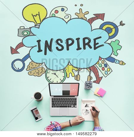 Creativity Ideas Design Thought Bubble Icon Concept