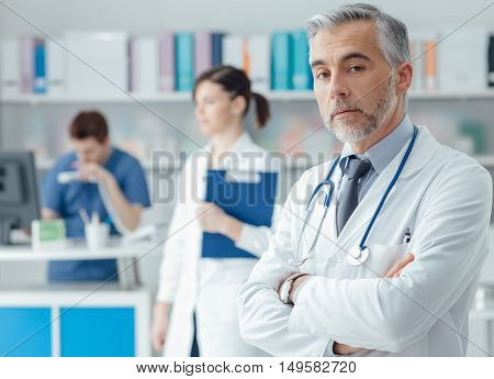 Confident Doctor In The Office