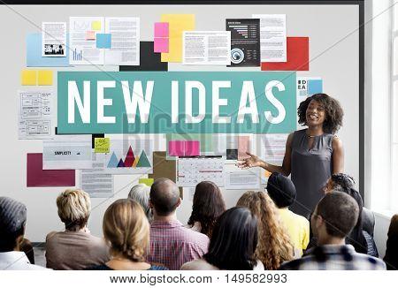New Ideas Design Objective Proposition Vision Concept