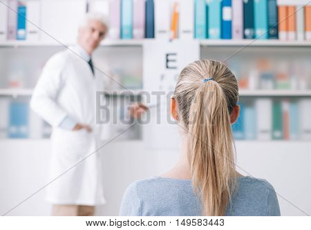 Exam With An Eye Doctor