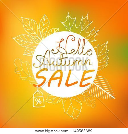 Autumn vector illustration. Fall sale banner template