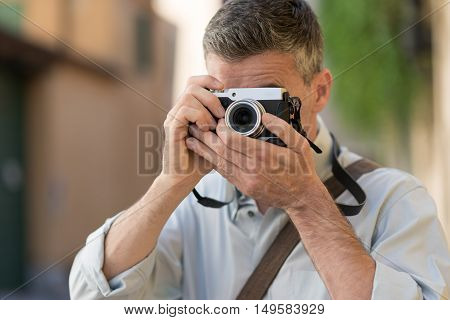 Photographer Shooting A Picture