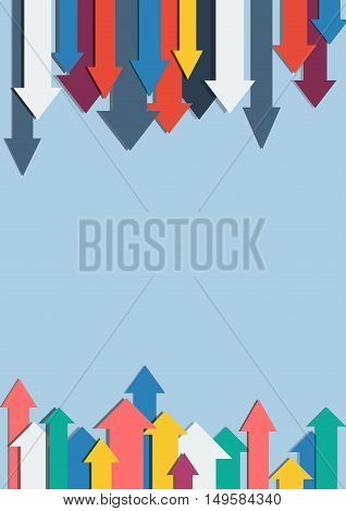 Vector colorful arrows background in flat design