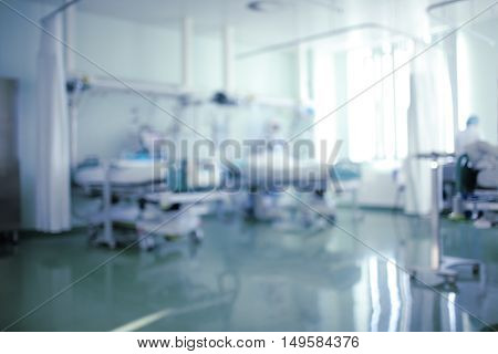 Intensive care unit defocused background of ward